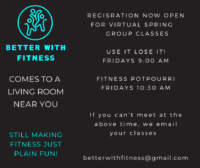 Better With Fitness Spring Class